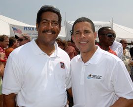 Lieutenant Governor Amthony Brown and Stewart Cumbo