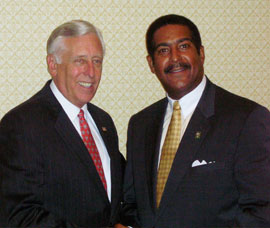 Steny Hoyer and Stewart Cumbo