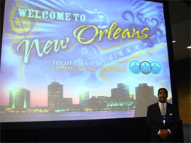 Councilman Stewart Cumbo leading Maryland's Delegation at the (NLC) National League of Cities Convention/Conference in New Orleans