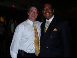 Councilman Stewart Cumbo and Maryland State Attorney General Douglas F. Gansler